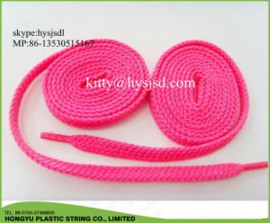 Factory Cheap Round Polyester Balck Shoelace pictures & photos