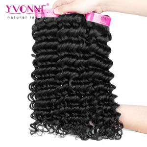 Hot Selling Deep Wavy Brazilian Human Hair Weave pictures & photos