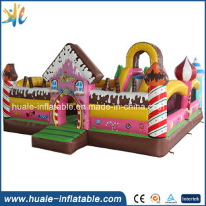 Pink Candy Kids Toy Inflatable Jumper Bouncy Castle for Kindergarten pictures & photos