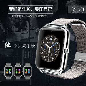 2016 New Arrival Z50 Metal Strap Sport Watch with Touch Screen SIM Card Slot Mobile Phone Bluetooth pictures & photos
