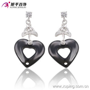 Fashion Nice CZ Crystal Silver Jewelry Ceramic Earring Eardrops -91217 pictures & photos