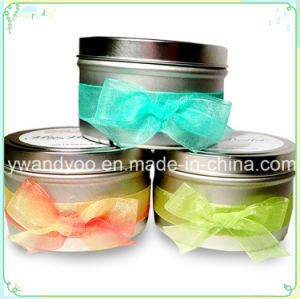 Elegant Scented Soy Gift Romantic Candle in Tin