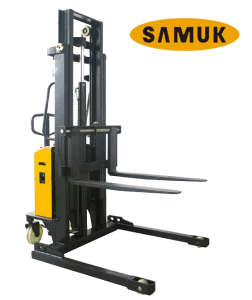 Semi Electirc Stacker with Adjustable Fork 0.65-1.5ton pictures & photos