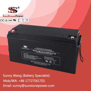 12V 140ah Valve Regulated Lead Acid AGM Battery for Solar System pictures & photos