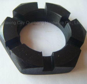 Black Hex Thin Slotted Castle Nuts (DIN979) pictures & photos