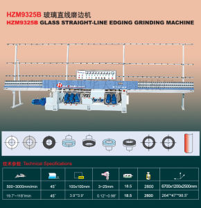 Hzm9325b Glass Straight-Line Edge Processing Machine Manufacturer Tn80 pictures & photos