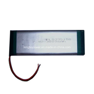 7.4V Rechargeable Lithium Ion Battery Pack (3000mAh) pictures & photos