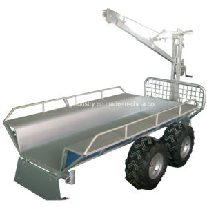 China Wholesale ATV Wood Trailer, Timber Trailer with Crane, Log Loader Trailer, Log Trailer with Crane (003) pictures & photos