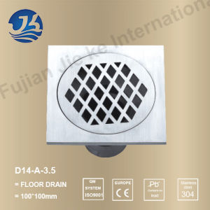Stainless Steel Bathroom Hardware Floor Drain (D14-A-3.5′′)