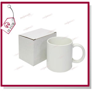 11oz Reinforce Porcelain White Mug for Sublimation Printing pictures & photos