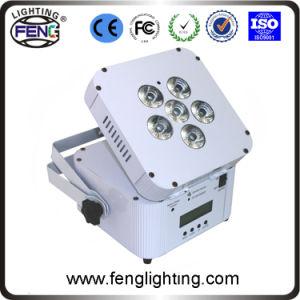6 PCS RGBWA UV Color Changing Wedding Decoration Wireless Battery LED Uplight