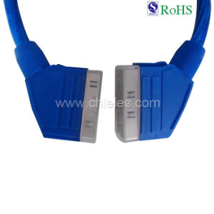 21pin Male Scart to Male Scart Cable (SY088) pictures & photos