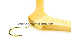 Luxury Natural Finished Wooden Clothes Hanger for Men (YLWD-d4) pictures & photos