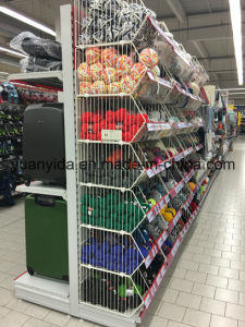 Powder Coated Wire Mesh Supermarket Display Baskets pictures & photos