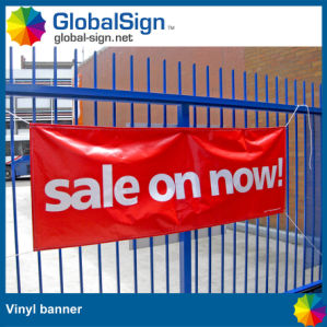 Outdoor Advertising Printed Vinyl Banner Fabric Fence Banner Printing pictures & photos