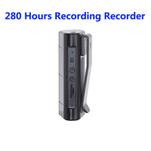 8GB 280 Hours Recording Audio Voice Recorder with MP3 Player Powerful Magnet Clip pictures & photos