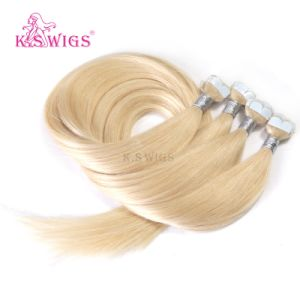 Top Quality Blonde Russian M Shape Micro Tape Hair Extension pictures & photos