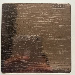 201/304/316 Wood Grain Stainless Steel Plate pictures & photos