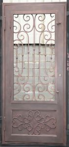 Cheap Wrought Iron Single Door Design pictures & photos