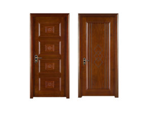 Solid Wooden Doors with Veneer Painting for Interior House pictures & photos