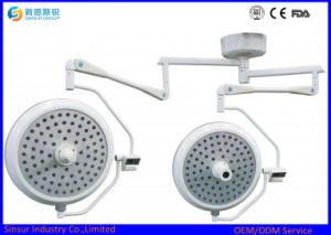Hight Qualified Hospital Shadowless Two Heads Ceiling LED Operating Lamp pictures & photos