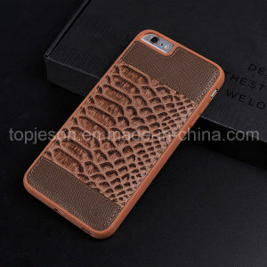 Fish-Scale Pattern Genuine Leather Case for iPhone 6/6s
