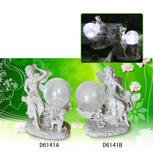 Resin Craft Angel Figurines with Solar Light pictures & photos