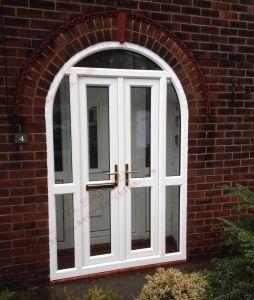 High Quality UPVC Casement Arch Door (BHP-CDA13) pictures & photos