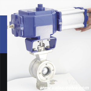 Pneumatic Operated V-Port Ball Valve pictures & photos
