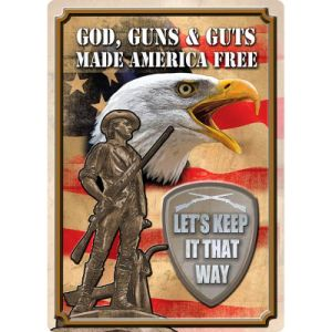 High Quality Metal Tin Signs for Guns pictures & photos