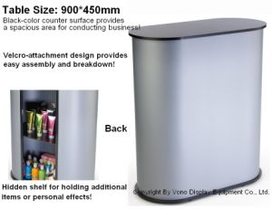 Portable Exhibition Counter Tradeshow Counter with Inner Shelf