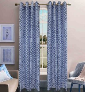 Printed Faux Silk 8 Grommets Window Curtain pictures & photos