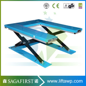 Factory Direct Sale Low Height Stationary Scissor Pallet Lift Table pictures & photos