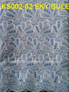 Organza Lace with Sequences for Colthing pictures & photos