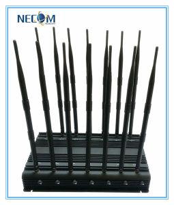35W Sensitive Desktop WiFi Bluetooth GPS Lojack Signal Jamer, Cellphone Jammer for 800MHz+900MHz+1800MHz+1900MHz+3G2100MHz+Gpsl1 pictures & photos