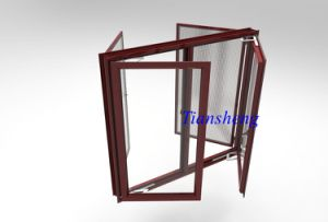 Customized Aluminum Casement Window with Mosquito Net pictures & photos