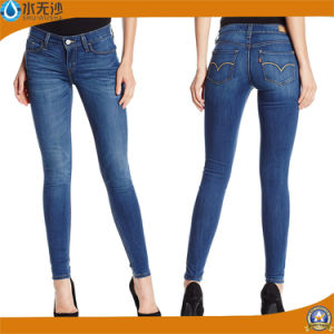 New Style Lady′s Coton Stretch Fashion Denim Jeans pictures & photos