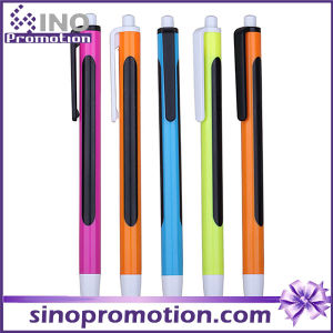Plastic Promotional Pen with Big Logo Printing Area Ball Pen