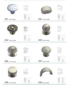 Zinc Alloy Round Shape Wardrobe Drawer Knob Zinc Alloy Cabinet Handle pictures & photos