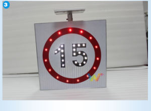 Road Safety Aluminum Speed Limit LED Solar Traffic Sign pictures & photos