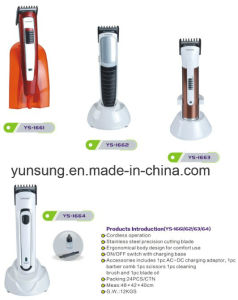 Hot Sell Rechargeable Low Noise Hair Clipper Hair Trimmer pictures & photos