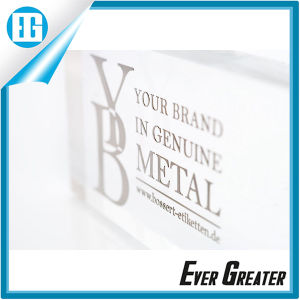 Your Brand in Genuine Metal Beautiful Custom Logo Sticker pictures & photos