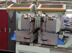 CNC Control Aluminum Window Double Head Cutting Saw pictures & photos