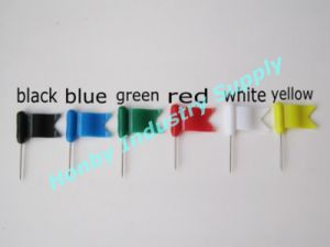 30mm Plastic Wavy Flag Map Pins for Office Using (P160112B) pictures & photos
