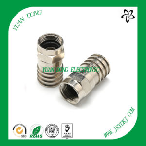 Water-Proof RG6 Cable Compression Connector RF Connector Manufacturer pictures & photos