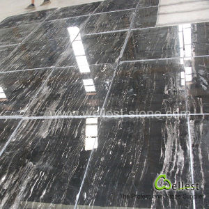 Silver Dragon Black Marble Polished Tile pictures & photos