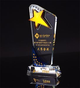 Crystal Sports Event Trophies and Awards Customized Star Champions Cup Trophy pictures & photos