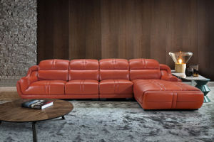 European Modern L Shape Sectional Leather Sofa (HC2023) pictures & photos