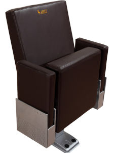 Lecture Hall Cinema Theater Seat Seating, Movable Arm Leather Auditorium Chair pictures & photos