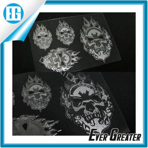 Custom Many Sizes Silver Skull Flame Whimsy Sticker pictures & photos